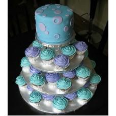Торт с капкейками №9